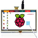 ELECROW 5 Inch Raspberry Pi Screen Touchscreen 800x480 TFT LCD Display HDMI Interface for Raspberry Pi 4B 3B+ 3B 2B+ BB Black Banana Pi Windows 10 8 7