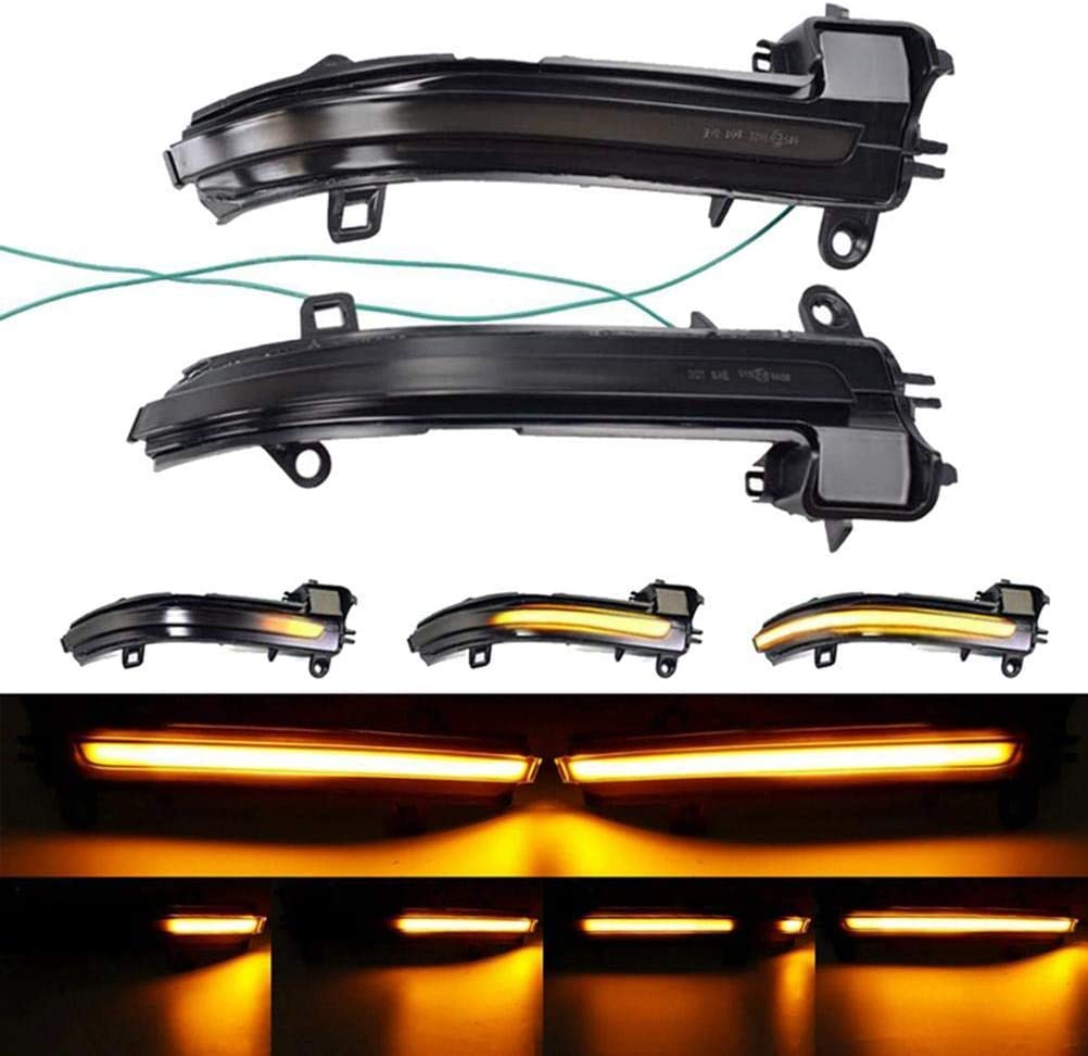 R/étroviseur de Clignotant Clignotants Flash de r/étroviseur /étanche Durable Compatible pour BMW s/érie 2//3//4 r/étroviseur Dynamique /à LED