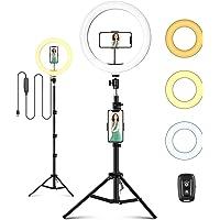 ITSHINY LED-ringlampa med stativstativ och telefonhållare, 25,4 cm selfieljusring för makeup Live Stream videofotografi…