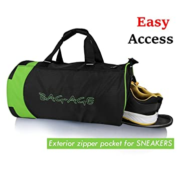 Bag Age Duffle Sports Gym Travel Luggage Including Shoes Compartment Women Men Croop