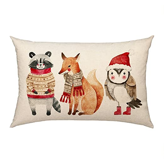 4TH Emotion Navidad Animales Manta Funda de Almohada Funda ...