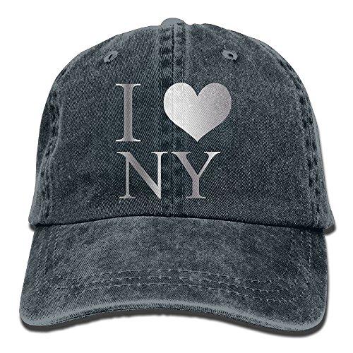 Hat I Love NY New York Denim Skull Cap Cowboy Cowgirl Sport Hats for Men ()