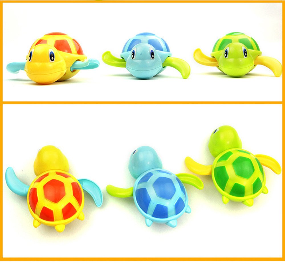 Novelty Toys Novelty Toys for Kids Educational Toys Small Toys Little Toys Inexpensive Toys for Kids Toy Gifts Christmas Popular Toy Multi-Type Wind Up Tortoise Bathing Clockwork Toy Dimanul