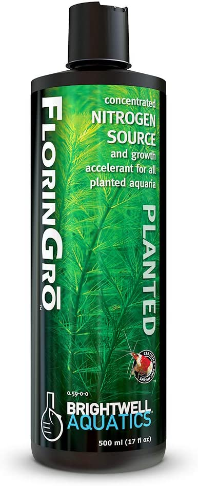 Brightwell Aquatics 17 fl. oz. Florin-Gro Nitrogen Fertilizer for Planted FW Aquaria, 500 mL