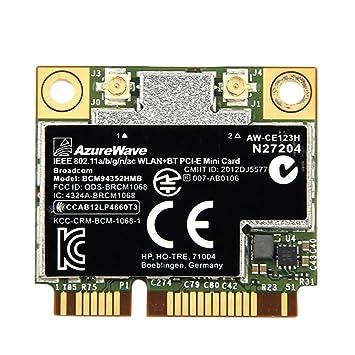 Nrpfell Doble Banda Bcm94352Hmb Bcm94352 802.11 / AC 867Mbps WiFi 4.0 Pci-E Tarjeta Inalámbrica Aw-Ce123H Wi-Fi