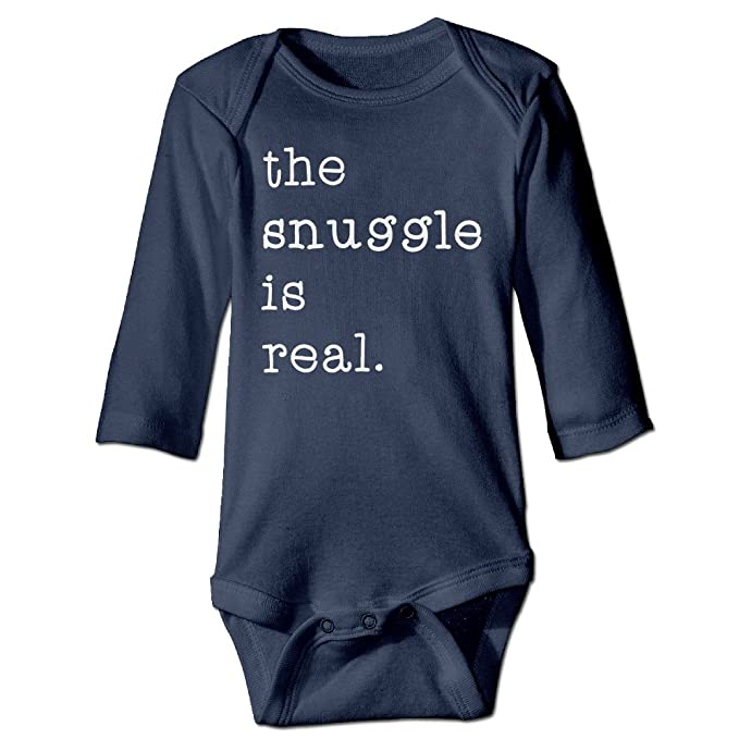7255b901f DEFOUGE The Snuggle is Real Toddler Funny Outfits Baby Onesies ...