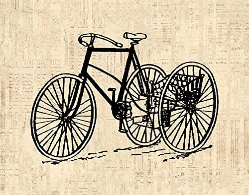 Old Blue Bicycle Wall Art Canvas Picture Print 3.2