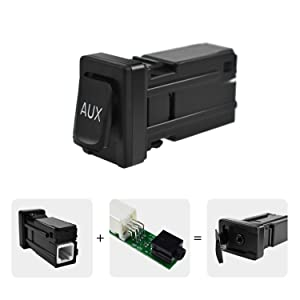 Aux Port Input Part Number 86190-02010 Aux Replacement Adapter Auxiliary Audio Input Car Jack Kit Radio Repair Parts for Toyata Corolla Camry Tundra RAV4 Tacoma Sienna Highlander Matrix 2007-2015