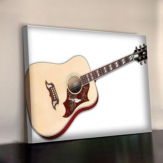 Gibson guitarra de colibrí Art Print 340 gsm con marco XL 30 x 20 ...