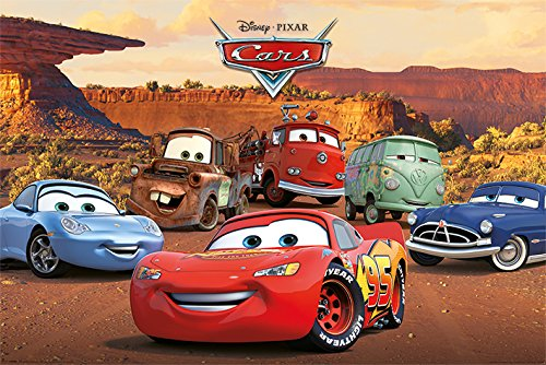 Pyramid International Cars Characters Movie Poster 36x24 Inch (Movie Cars Disney Poster)