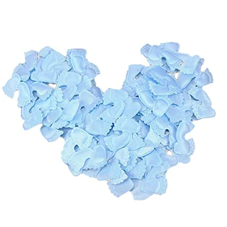 Amazon.com: BESTOYARD 100pcs Baby Shower Confetti Foot Print Table ...