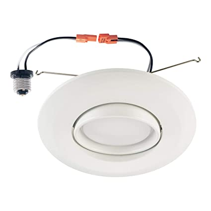 Ostwin 6 Inch Directional Recessed Led Can Gimbal Light Fixture Adjustable Angle Downlight Directional Dimmable 15 W 120 Watt Replacement 1150