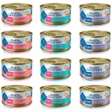 Blue Buffalo Healthy Gourmet Cat Food Variety Pack - 12 cans, 3 Flavors (Salmon, Ocean Fish & Tuna, and Tuna)