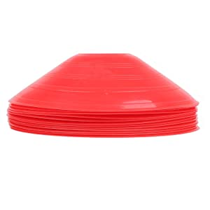 Charles Bentley 50 Multi Coloured Boundary Markers Space Disc Training Markers Cones With Stand