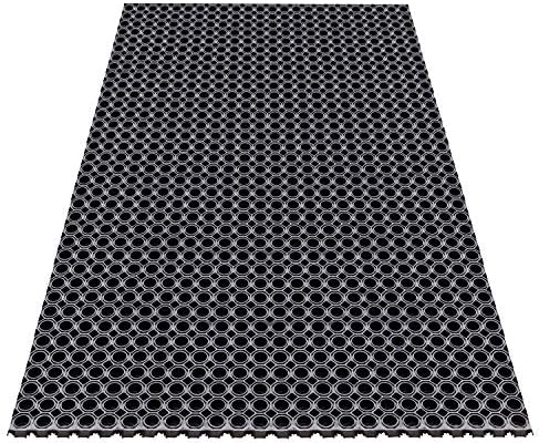 A1HC Octagonal Type 39 In. X 60 In. Anti-Fatigue Rubber Matting Drain mat for commercial Kitchens