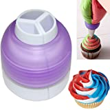 Baking Tri-Color Coupler Icing Piping Bag Nozzle Converter Cream Coupler Cake Decorating Tools