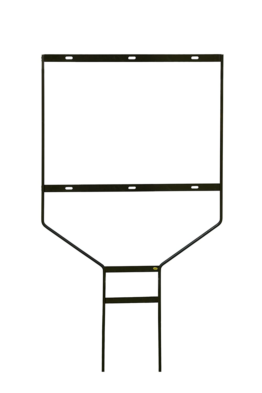 amazoncom displays2go set of 5 steel frame yard signs black powder coated finish for outdoor use real estate sign holders display 24 x 18 inches - Metal Sign Frames