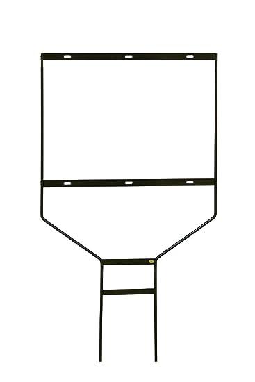 displays2go set of 5 steel frame yard signs black powder coated finish for outdoor - Yard Sign Frames