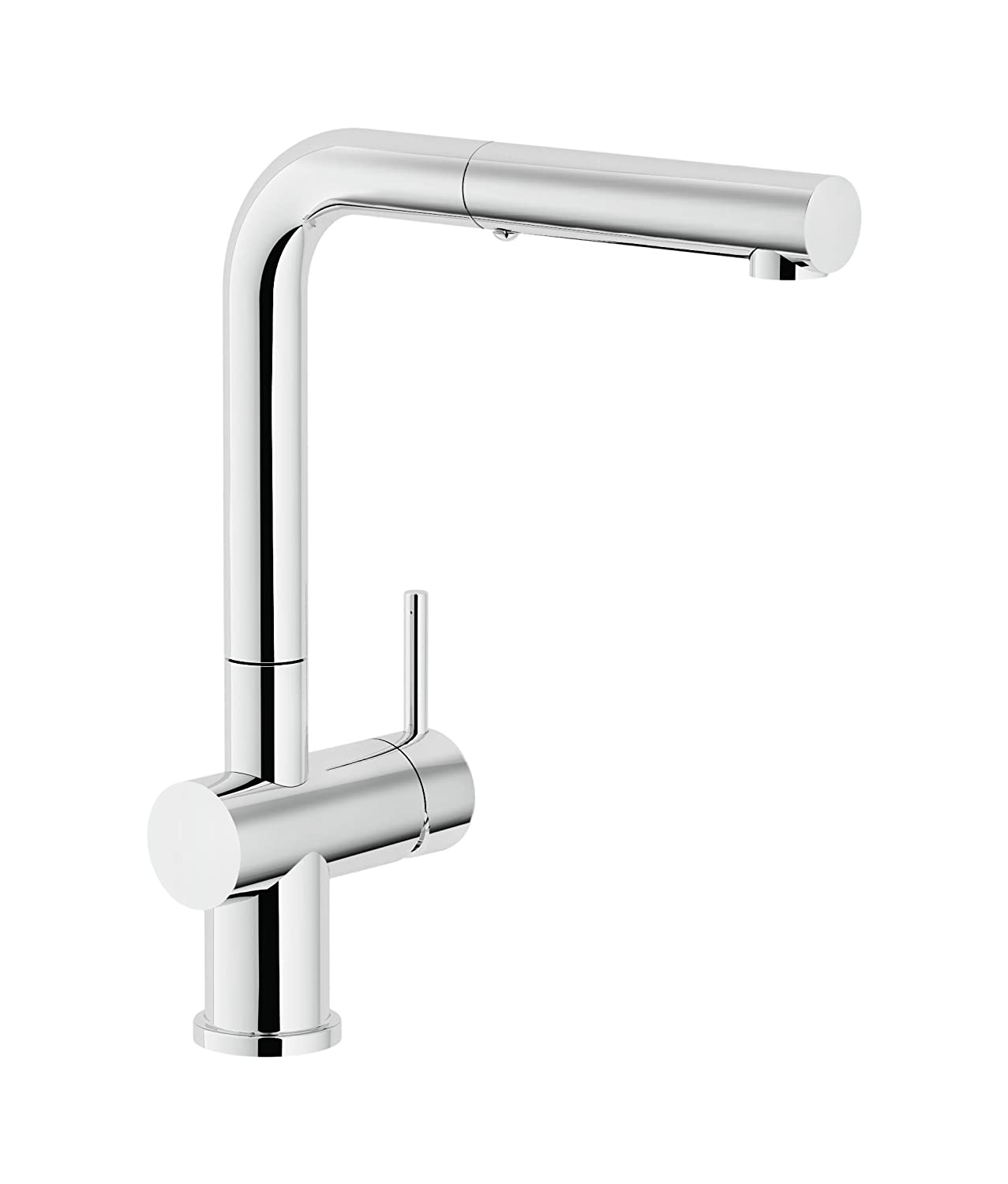 Franke FF3800 Active Single Handle Pull-Out Kitchen Faucet, Chrome ...