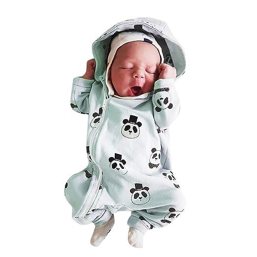 d2ae8d582 Amazon.com  Sikye Baby One-Piece Jumpsuit Panda Print Full-Zip ...
