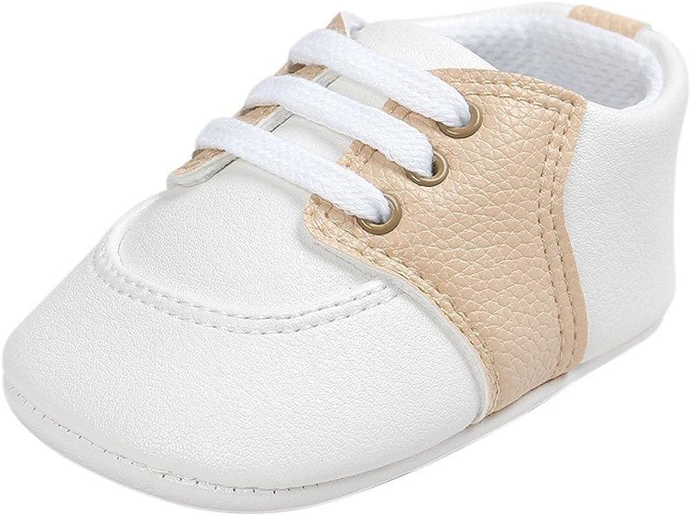 ESTAMICO Baby Boys Girls Shoes Infant PU Leather Prewalker Sneakers