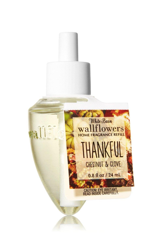 Bath & Body Works Wallflowers Fragrance Refill Bulb THANKFUL Chestnut & Clove B016R4K0P2