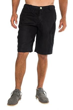 74a3f05b28d7 Claudio Milano Men's 100% Linen Shorts at Amazon Men's Clothing store:
