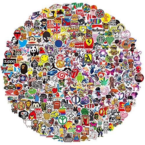 QWDDECO Stickers (386-PCS) Cute Stickers for Water Bottles Hydroflasks Skateboard- Decal Stickers for Teens