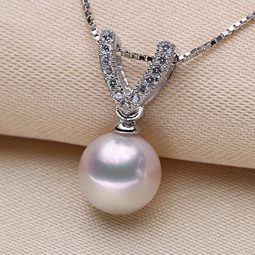 My DIY only fitting 925 sterling silver necklace pendant Micro Pave natural pearl necklace pendant handmade jewelry mountings