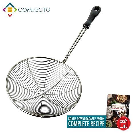 Cocina Araña Colador | Premium 7 Inch alimentos espumadera ...