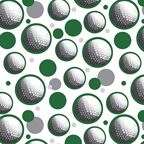 Premium Gift Wrap Wrapping Paper Roll Pattern - Golfball Golf Ball Sport - Green - Ball Wrap Gift