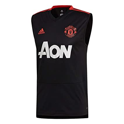 35ed9ab7e6e Amazon.com   adidas 2018-2019 Man Utd Sleeveless Training Football ...