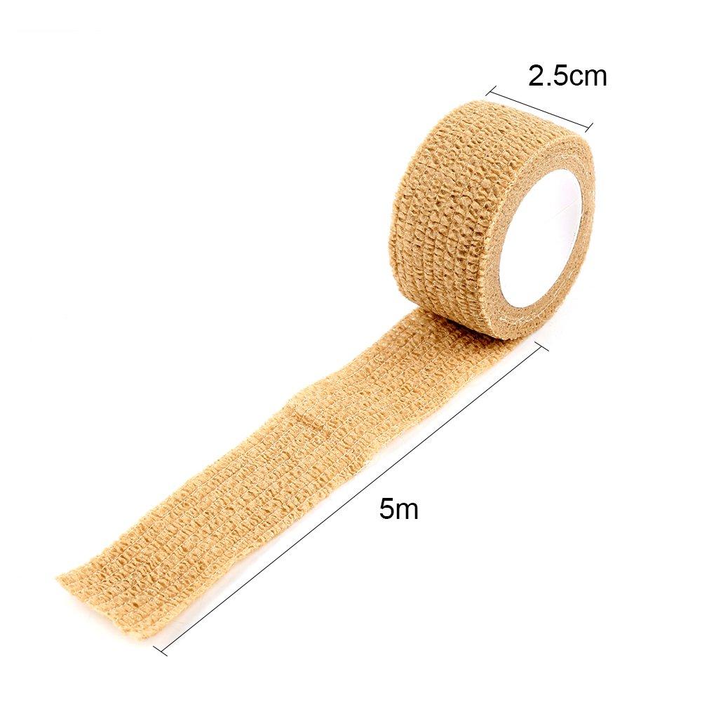 Self Adherent Cohesive First Aid Sports Wrap Tapes Bandages Pet Vet Wrap Tape STRUGGGE Cohesive Bandage