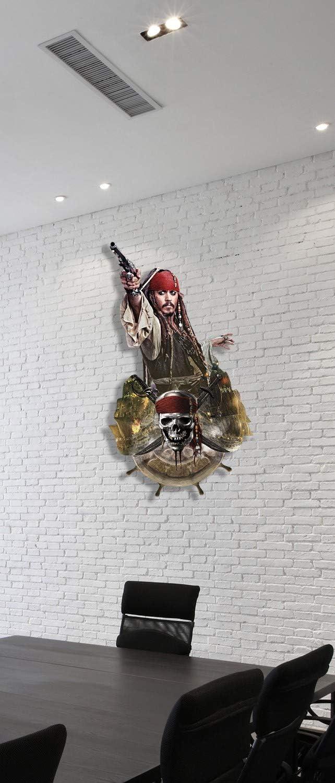 Cartonato di Coppia di Pirati 100 x 5 x 100 cm Star Cutouts Ltd Jack Sparrow Wall Cartoncino
