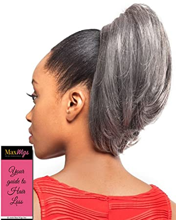 Amazon.com   DS002 Ponytail Color 1 Black - Foxy Silver Wigs Drawstring  Curly Hairpiece Dome Short Synthetic African American Womens Bundle with  MaxWigs ... 202032678