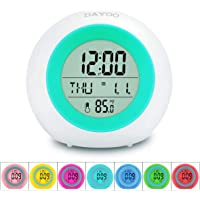 DAYOO 7 Color Changing LED Night Light Digital Kids Alarm Clock