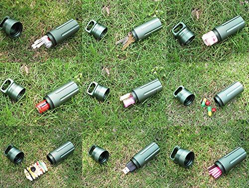 contenitore in alluminio e metallo portachiavi Valigetta per accessori di tipo militare impermeabile capsule pillole attrezzatura di sopravvivenza ermetica per pillole