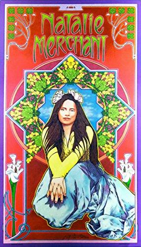 Natalie Merchant Fan Club Original Lithograph Hand-Signed by Bob Masse