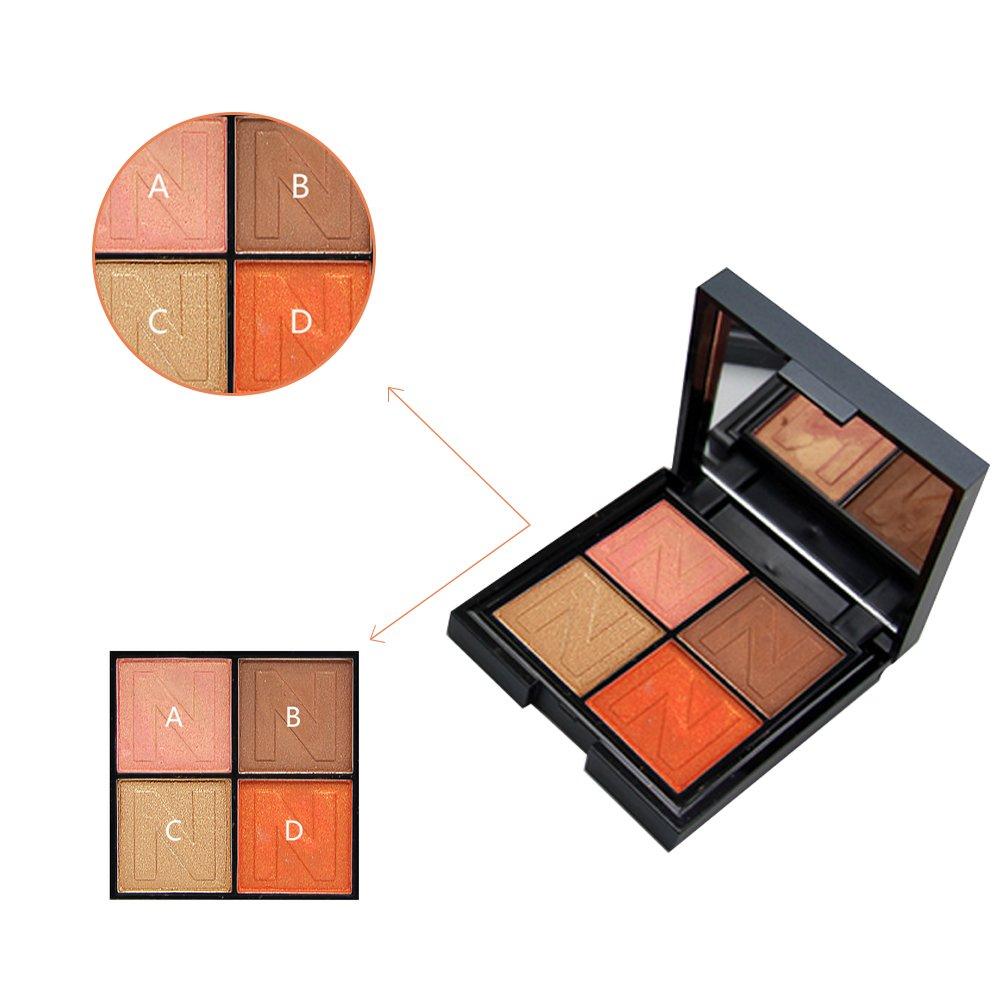 4 Colors Eyeshadow Palette Most Famous Shiny Smoky Natrual Make
