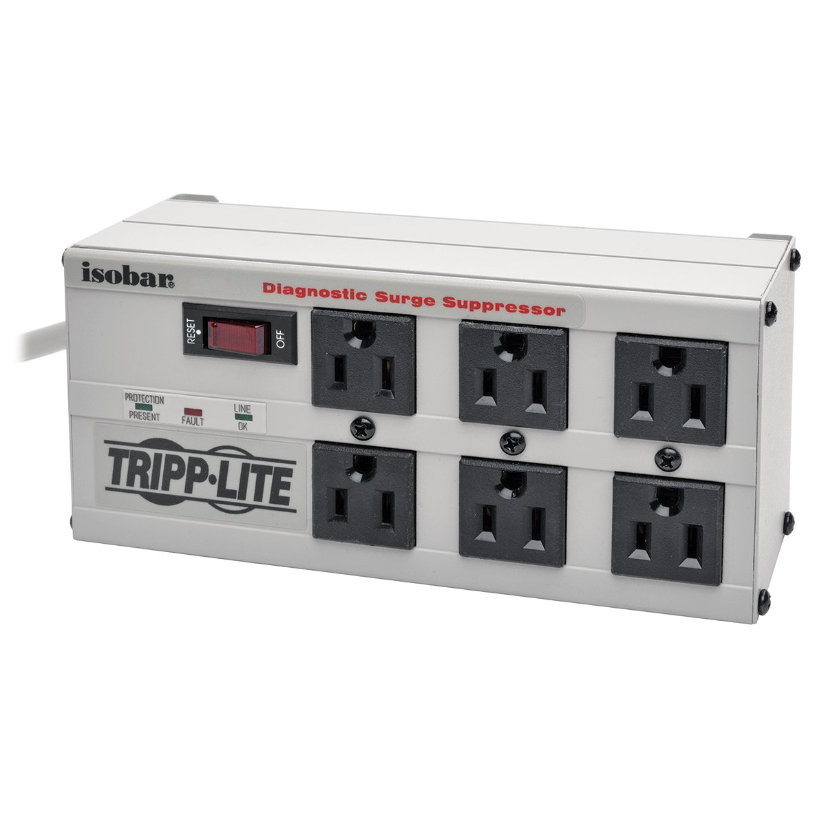 Tripp Lite Ch 9101012 Natripp Isobar 6 Outlet Surge Switch Wiring1 Diagram Diagosis Protector Power Strip 6ft Cord Right Angle Plug 3300 Joules Isobar6 Home Audio