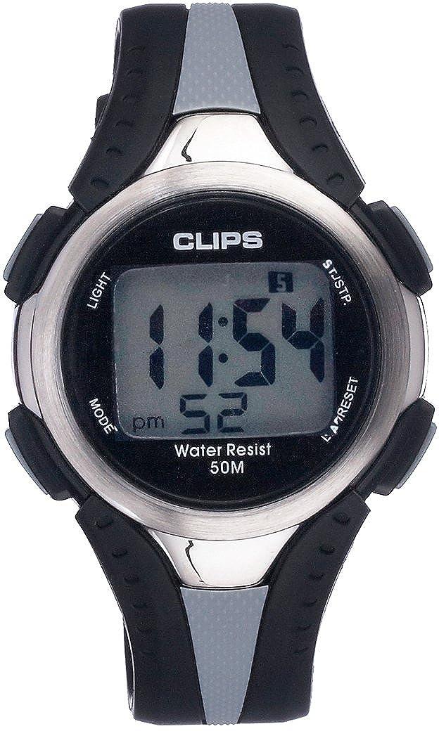 Clips 539-6000-48 - Reloj de Pulsera Hombre, Caucho, Color