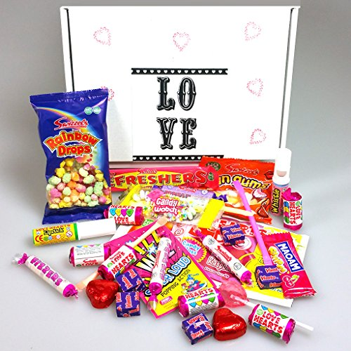 30 Piece English Love Sweetie Box - By Moreton Gifts - Perfect For Your Girlfriend, Boyfriend, Relative Any Other Day of The Year!