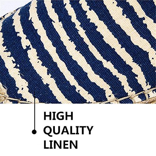 Uomo Classics Blu Blu Alpargatas Scuro Canvas Sole Rope Strisce Espadrillas qRgwRf