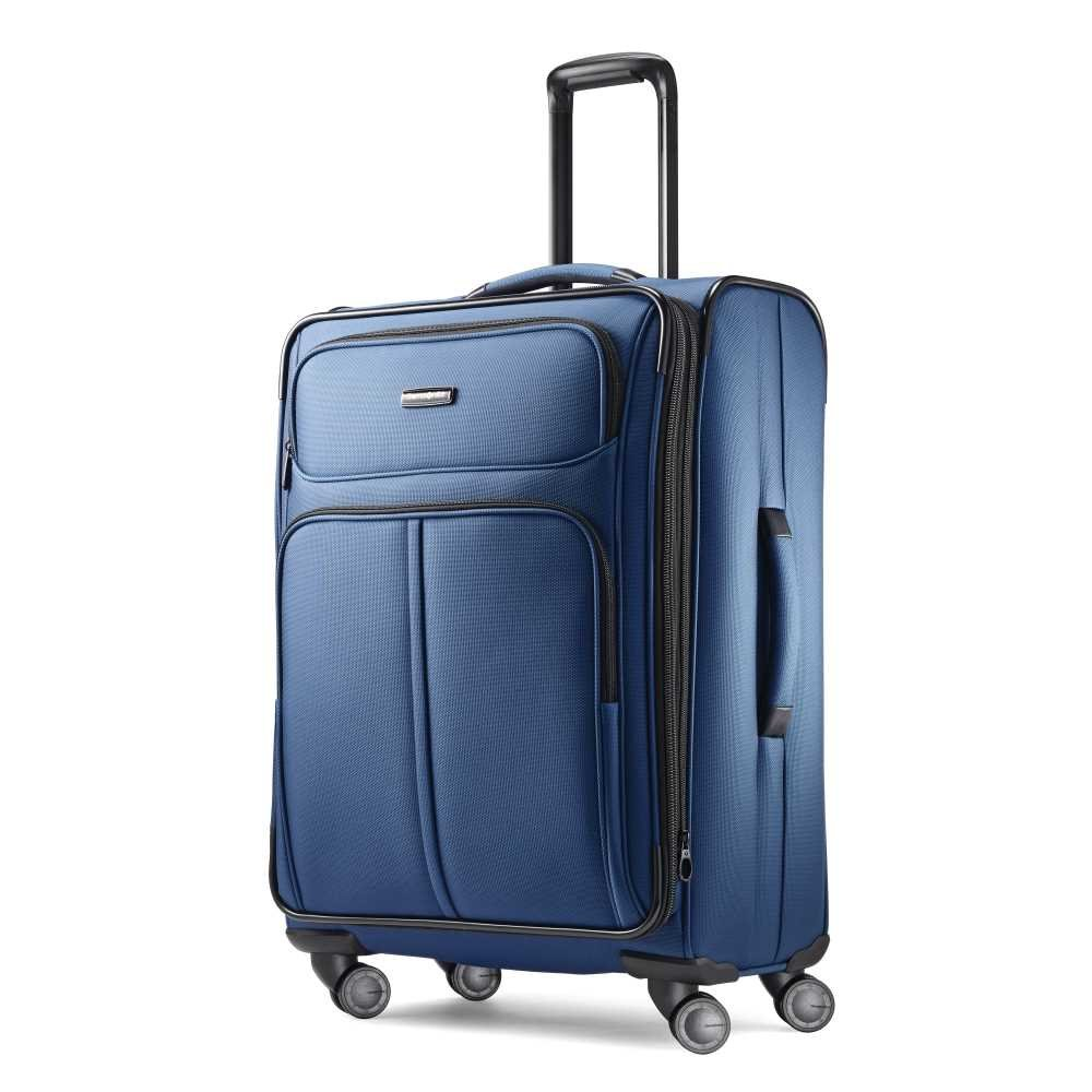 Samsonite Leverage LTE Expandable Softside Checked Luggage with Spinner Wheels, 25 Inch, Poseidon Blue