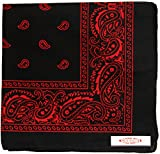 red and black - Soophen One Dozen Cowboy Bandanas (31. Black and Red)