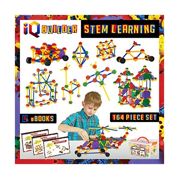 61U%2Bf2D8urL. SS600  - IQ BUILDER   STEM Learning Toys   Creative Construction Engineering   Fun Educational Building Toy Set for Boys and…