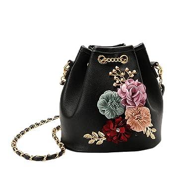 Shoulder Bags, KEERADS Women Vintage Flowers Designer Handbag Tote  Messenger Bag (Black) 0b3ee1a74d