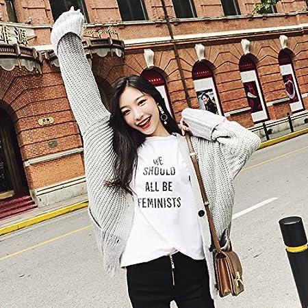 SZYL-Sweater Hit Farbe Pullover Herbst und Winter koreanischen einreihigen Damen  Pullover Pullover Strickjacke Frauen 170bf45eab