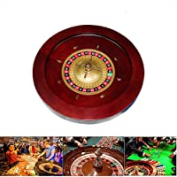 YUSDP 18-Inch Deluxe Grade Casino Roulette Wheel- Heavy Solid Wooden, with 2 Balls, Vintage Spiral Cross Design Removable - for Leisure and Entertainment