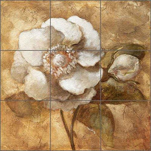 Mosaic Medallion Flooring Mural Decor - Amber Rose by Wilder Rich - Floor Countertop Tabletop Tile Mural (24